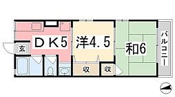 兵庫県たつの市揖保川町片島の賃貸アパートの間取り