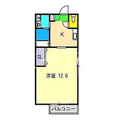 シャーメゾンサン[1階]の間取り