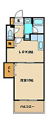 神奈川県相模原市南区相模台1丁目の賃貸マンションの間取り