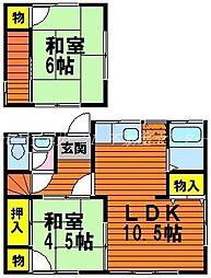 [一戸建] 岡山県岡山市中区下 の賃貸【/】の間取り