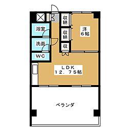 松尾コーポ[4階]の間取り