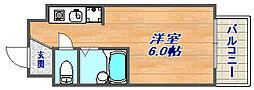 兵庫県神戸市東灘区深江南町4丁目の賃貸マンションの間取り