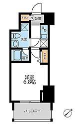横浜市営地下鉄ブルーライン 横浜駅 徒歩12分の賃貸マンション 7階1Kの間取り
