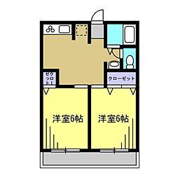 ミヤビハイツ[2階]の間取り