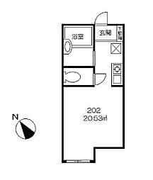 フロックガーデンII[2階]の間取り