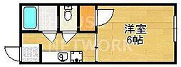 GREENS(グリーンズ) A棟[105号室号室]の間取り