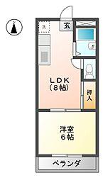 第3磯部コーポB棟[4階]の間取り