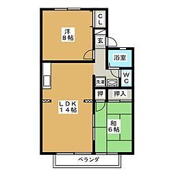ヌーベルメゾン B[2階]の間取り