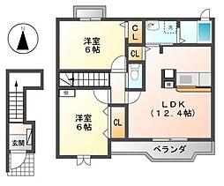 フィオーレB[2階]の間取り