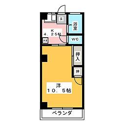 青山マンション[4階]の間取り