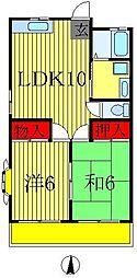 竹ふじビル[3階]の間取り