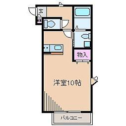 神奈川県川崎市中原区下小田中3丁目の賃貸アパートの間取り