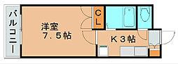 エスポワール粕屋[3階]の間取り