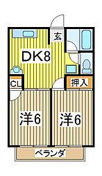 シティハイムファミーユ[1階]の間取り