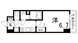 JR東海道・山陽本線 兵庫駅 徒歩4分の賃貸マンション 7階1Kの間取り