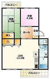 メゾン江坂[3階]の間取り