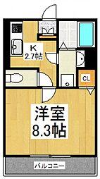 Fortezza所沢[1階]の間取り