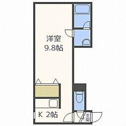 北海道札幌市東区北三十二条東12丁目の賃貸アパートの間取り