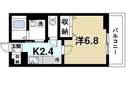 奈良県奈良市高畑町の賃貸アパートの間取り
