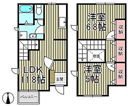 [テラスハウス] 神奈川県鎌倉市植木 の賃貸【/】の間取り