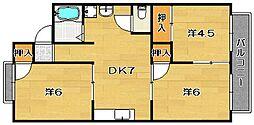 ガーデンハイツI[2階]の間取り