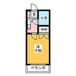 カサクオーレ[2階]の間取り