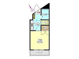 ヒサオコーポ[1階]の間取り
