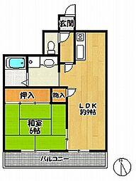 サウス1[3階]の間取り