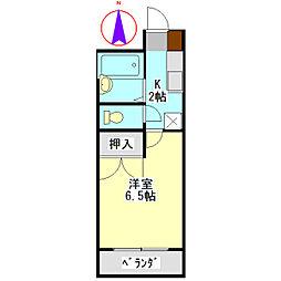 安田学研会館 中棟[506号室]の間取り