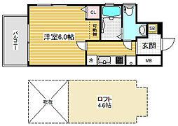 エステムコート神戸県庁前4グランディオ[2階]の間取り