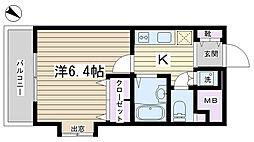 プレールドゥーク文京本駒込[701号室]の間取り