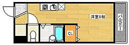 セラ玉出[5階]の間取り