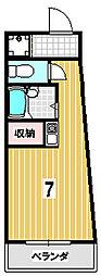キャッスル21[205号室]の間取り