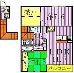 京[2階]の間取り