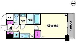 リッツ難波南Ⅱ[2階]の間取り