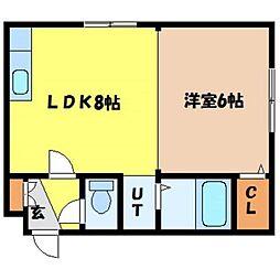 北海道札幌市北区北二十一条西7丁目の賃貸マンションの間取り