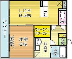 エスポワール祇園A[202号室]の間取り