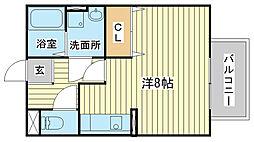 エマーブル福田[107号室]の間取り
