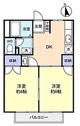 カーサすみれ弐番館[2階]の間取り