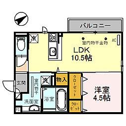 (仮)D-room四十万町[301号室]の間取り