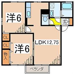 ルピナ大北F(飯泉)[101号室号室]の間取り