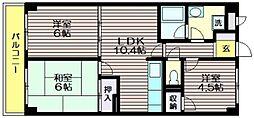 東京都調布市若葉町3の賃貸マンションの間取り