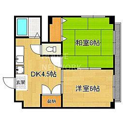 叡山荘[302号室号室]の間取り