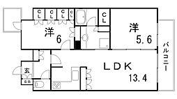 リーガル神戸三宮[2階]の間取り