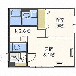 北海道札幌市中央区南六条西10丁目の賃貸マンションの間取り