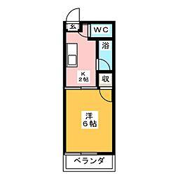 タウニーU B棟[2階]の間取り