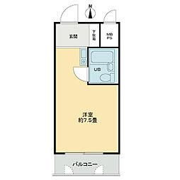 ライオンズマンション日本橋[5階]の間取り