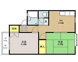 アーバンハウス21[202号室号室]の間取り