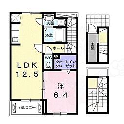 スックワームJ 3階1LDKの間取り