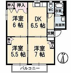 シャーメゾン明神[1階]の間取り